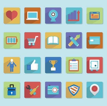Flat icons for web design - part 2 - vector icons Vector