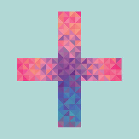 a pink cell:  cross made of triangles