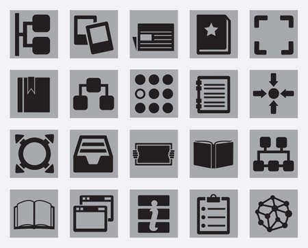 Set of content and data organization icons Stock Vector - 21139108