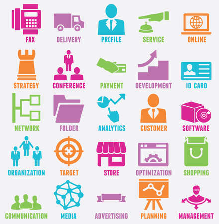 Set of seo and internet service icons Stock Vector - 21139112