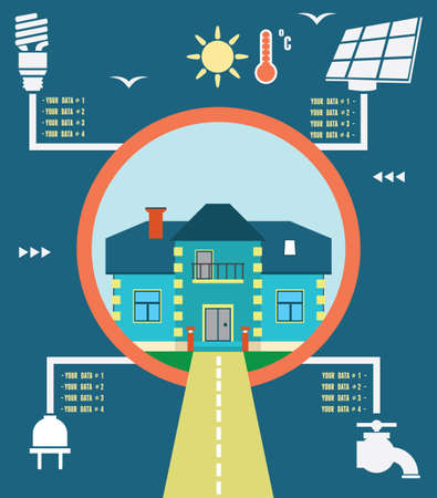 Infographic of energy home   Vector