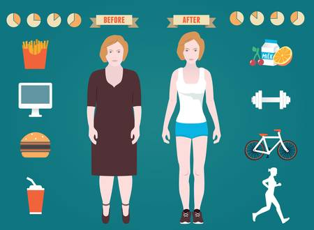 wholesome: Infographic of fitness and sport   Illustration