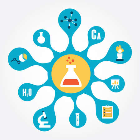 Concept of chemistry - vector illustration