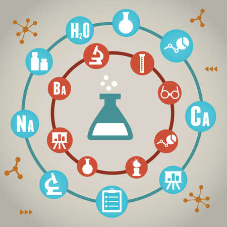 chemists: Concept of chemistry - vector illustration