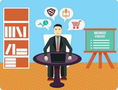 experte: Beratung und Analytik Unternehmensexperte - Vektor-Illustration Illustration