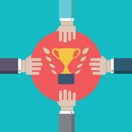 struggle: Concept of competition  Struggle for leadership - vector illustration