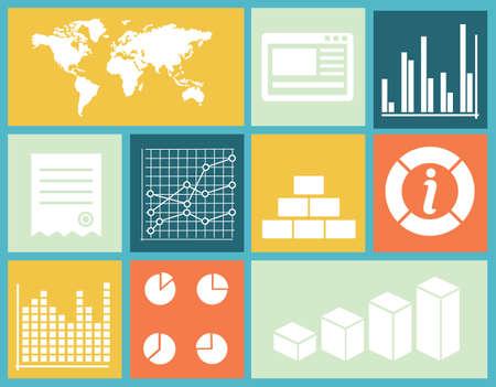 ユーザー図のベクトル平界面インフォ グラフィック テンプレート