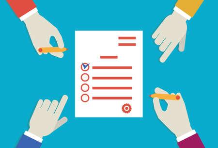gestion del tiempo: ilustraci�n plana de planificaci�n de negocios - ilustraci�n Vectores