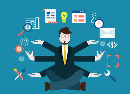 Los recursos humanos y el desarrollo personal de negocios moderna - ilustración vectorial