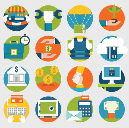 desarrollo económico: Vector Comercio y Ahorro iconos para el diseño - iconos vectoriales