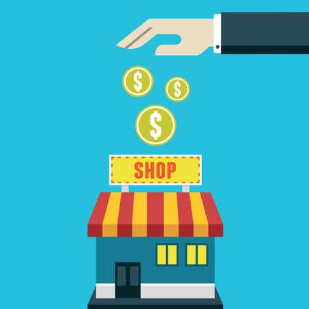 ビジネス コストと利益 - ベクター グラフィックへの投資