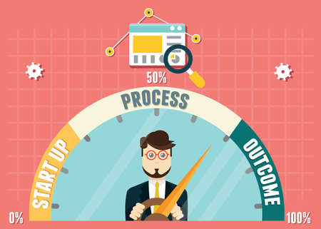 Dashboard of business development. Management and analytics Vector