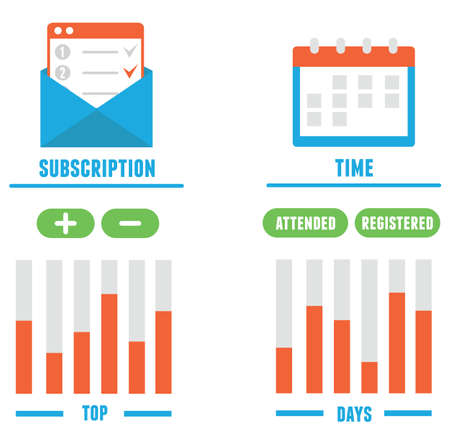 subscription: Subscription as business model illustration.