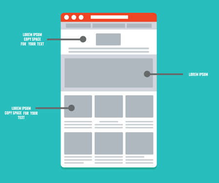 user experience design: Wireframe - information structure and description of the user