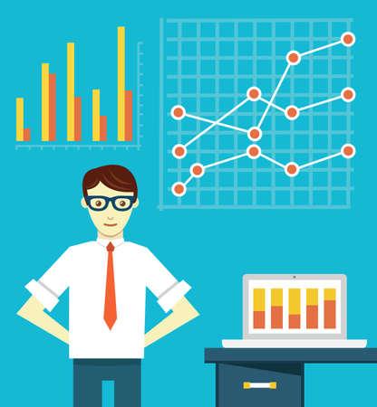market research: Expert of business optimization - vector illustration