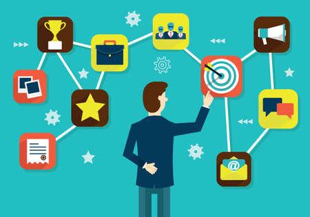 relationship: Customer Relationship Management - ilustra