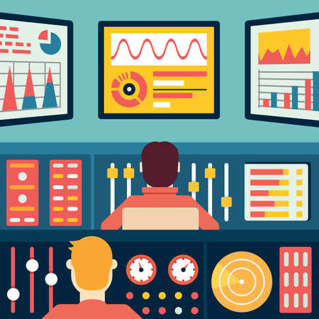 Analytics and data processing. Information and statistic - vector illustration Vector