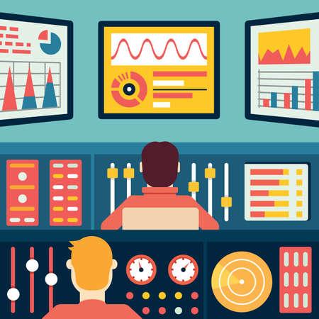 Analytics e Data Processing. Informazione e statistica - illustrazione vettoriale Archivio Fotografico - 34748411