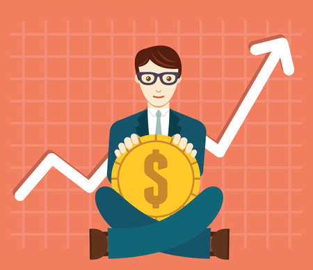 foreign currency: Foreign Exchange Market. Appreciation of Dollar - vector illustration Illustration
