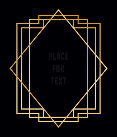 Vector trendy geometric frame for text. Line style - vector element