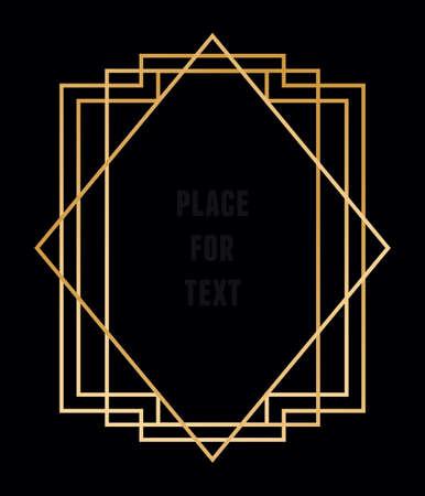 Vector trendy geometrische frame voor tekst. Lijn stijl - vector element Stock Illustratie