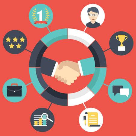 relation clients: Customer Relationship Management - illustration vectorielle
