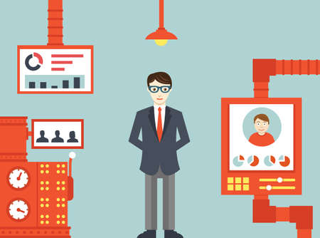 System of  human resources management - vector illustration Illustration