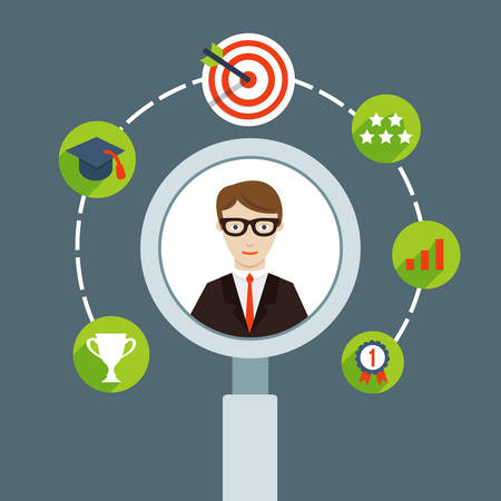 personnel: Selection of business personnel - vector illustration