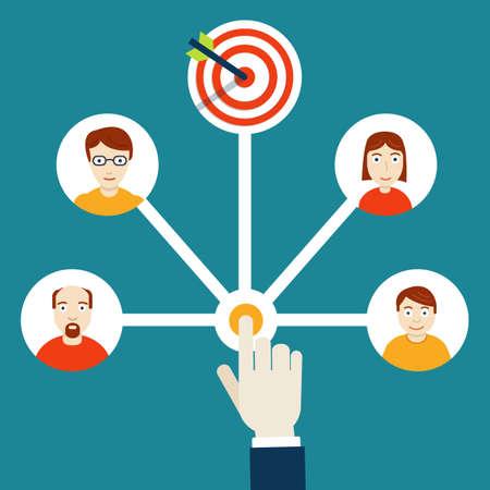 Human resources management. HR-management - vector illustration Illustration