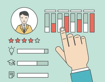 relationship management: Customer Relationship Management - vector illustration Illustration