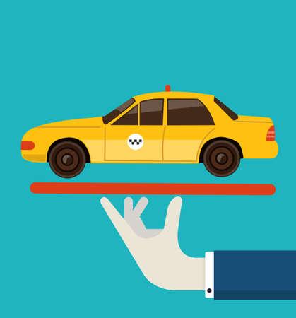 in order: illustration of order taxi illustration Illustration