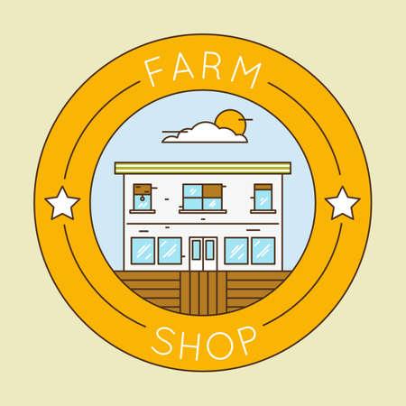 farm shop: Farm shop - emblem pack.