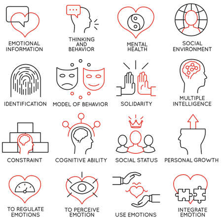 Set of 16 icons related to business management Ilustração