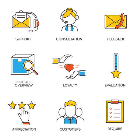 crm: Vector set of icons related to career progress and business management. Infographics design elements - part 4