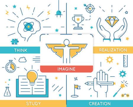 schöpfung: Vektor-Konzept in Bezug auf Karrierefortschritt, Geschäftsleute Ausbildung und Bildung. Infografik