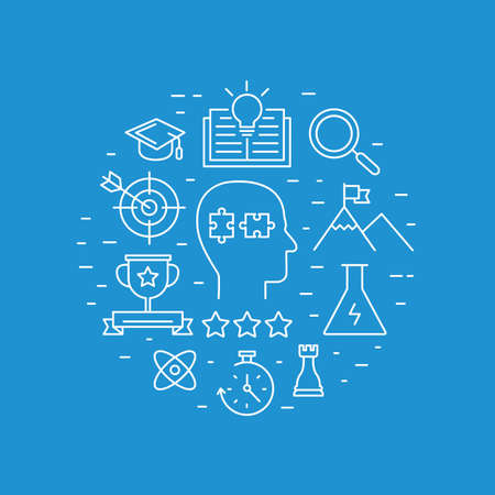 Modern vector illustration of business leader with career opportunity for leadership development