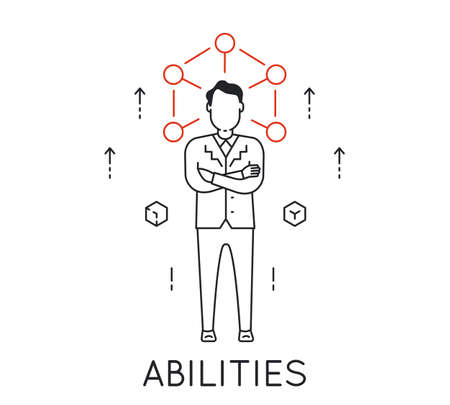 Linear Concept of Human Abilities, Development of Personal Qualities to Enhance Business Skills Illustration