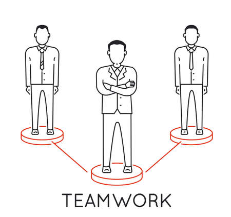 Linear Concept of Teamwork, Leadership, Human Resources Management and Relationship