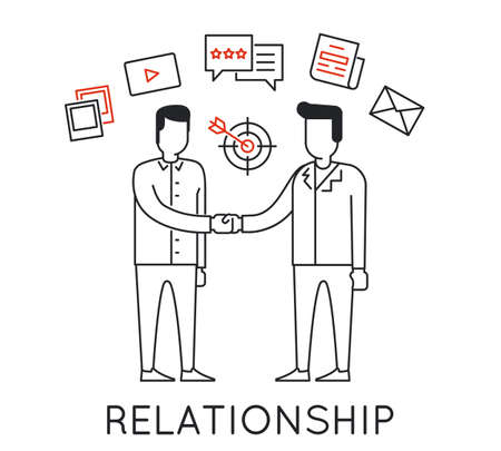 Linear Concept of Business Interaction, Relationship, Discussion and Negotiation For the Continuation of Successful Business