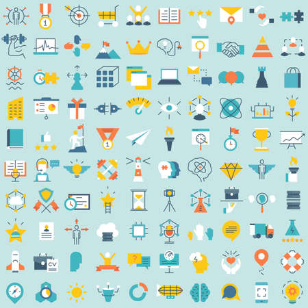 critique: Set of 100 vector social media icons. Flat style design - part 3 - vector icons