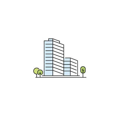 Vector symbol of real estate - vector building logo