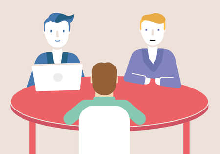 Vector flat illustration related of teamwork, business meeting and stakeholders