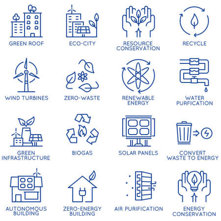 Vector set of thin linear 16 icons related to technology for intelligent urbanism, smart city and urban development. Mono line pictograms and infographics design elements - part 4