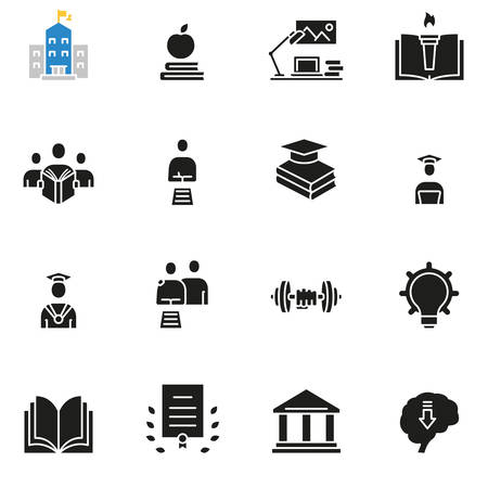 Vector set of icons related to career progress, business people training and professional consulting service - part 3 Ilustrace