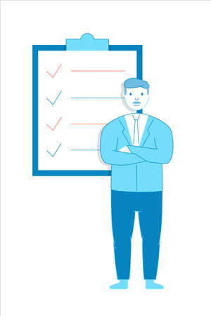 Candidate, Applicant, Recruitment, Competence. Vector flat linear style - filled outline