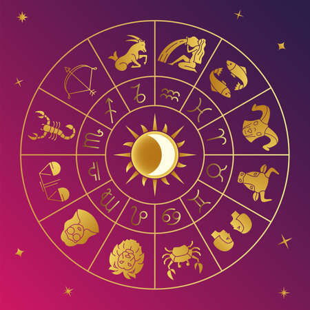 Zodiac signs, Constellation and Astrology. Vector Horoscope Signs for Social Media, Print and Branding.