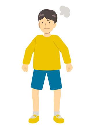 Boy angry boy illustration image