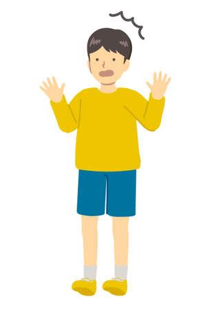 Illustration image of surprised boy