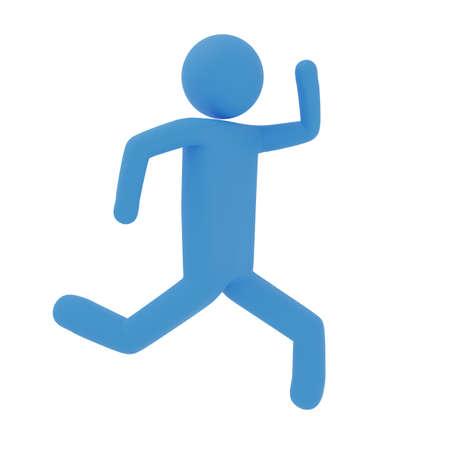 Image of running pictogram 3DCG