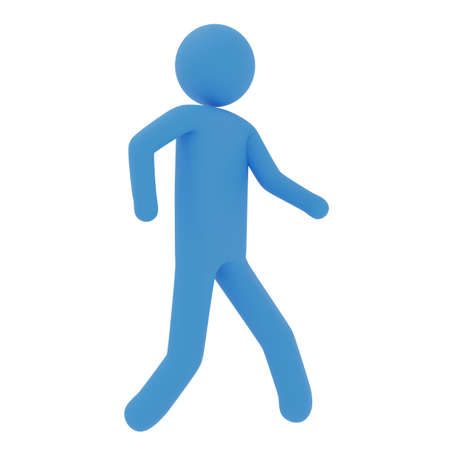 Images of walking pictogram 3DCG